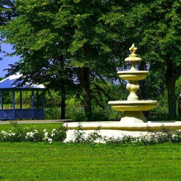 Parko centrinės aikštės fontanas