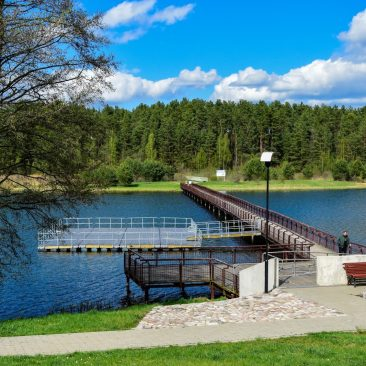 Paplovinio ežeras ir tiltas